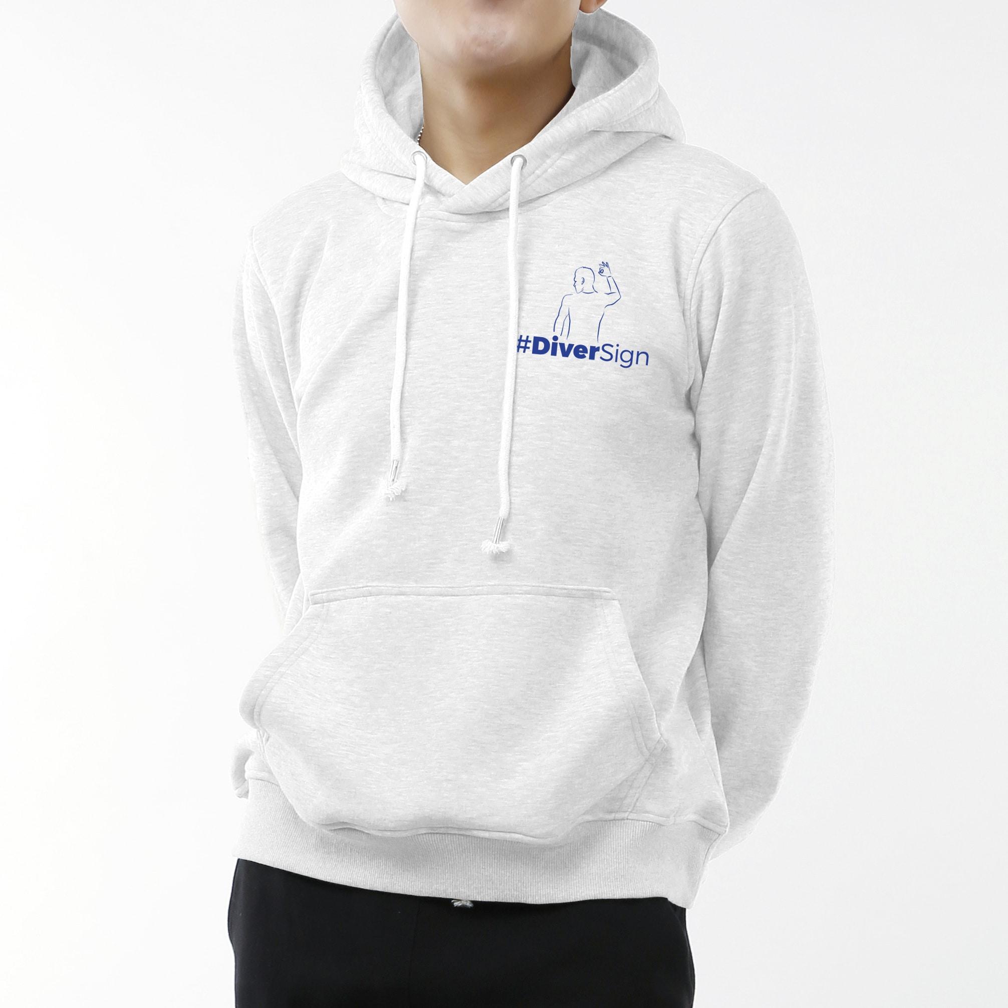 utterly stylish online here unique design Sweat à capuche homme blanc (logo coeur)