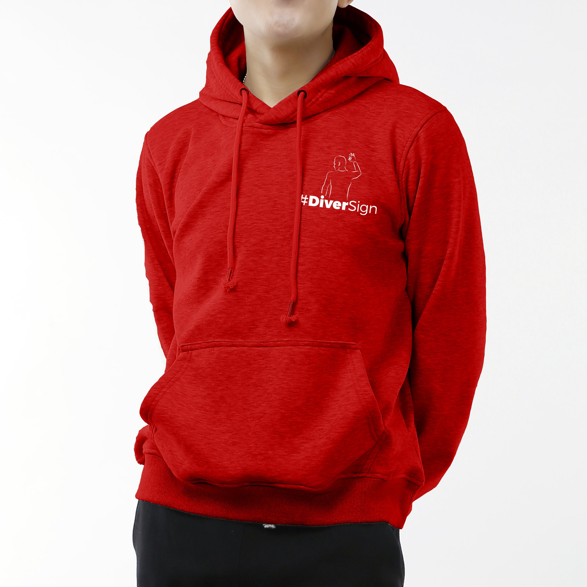 en stock offre vêtements de sport de performance Red Man Hoodie (Heart logo)