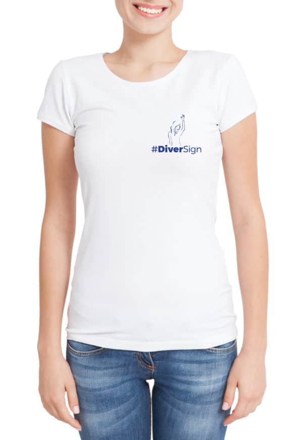 t-shirt plongée blanc